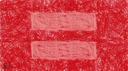 A hand drawn equality symbol