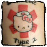 hello kitty tattoo type 2 diabetes