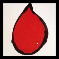 blood drop painting by mike lawson with diabetes
