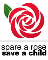 Spare a rose save a child logo