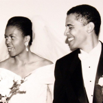 barack obama and michelle obama doing a throw back thursday on instagram #tbt