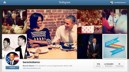 Barack Obama's Instagram Page White House Social Media