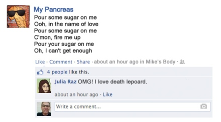 songs lyrics posted on facebook diabetes pancreas