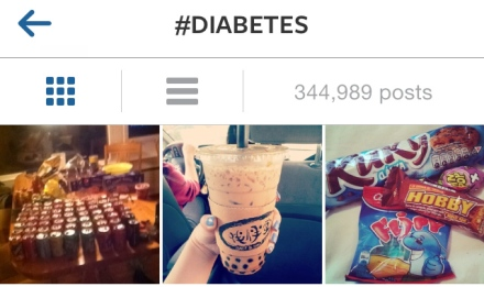 people posting fattening sugary food to instagram using #diabetes