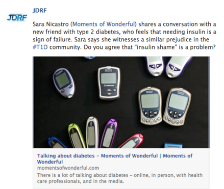 jdrf posts sara nicastro's moments of wonderful blog post diabetes